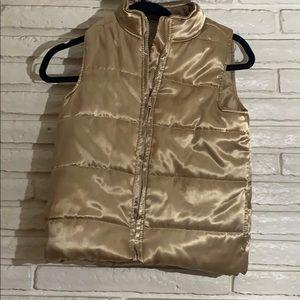 Gold puff vest
